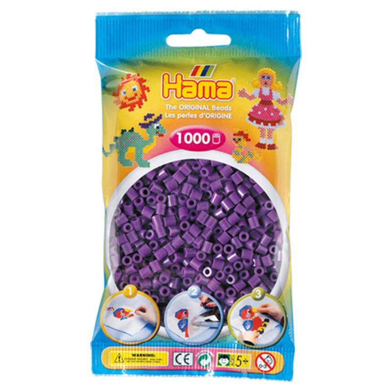Hama perler midi 1000 stk - lilla-07