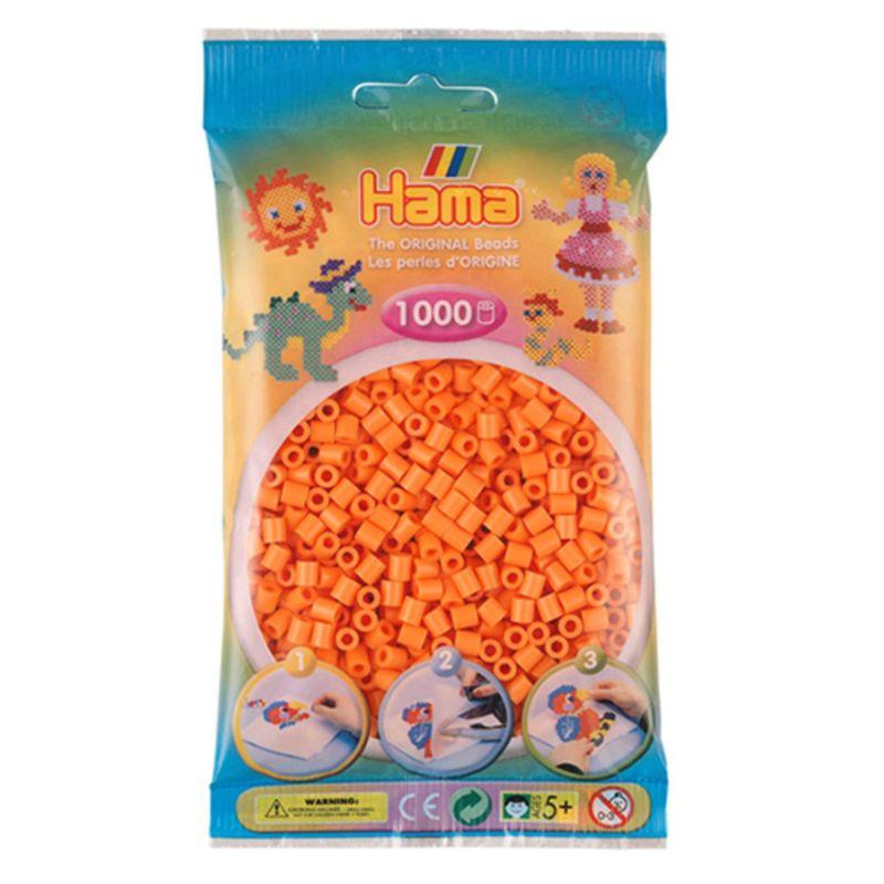 Hama perler midi 1000 stk - abrikos-79