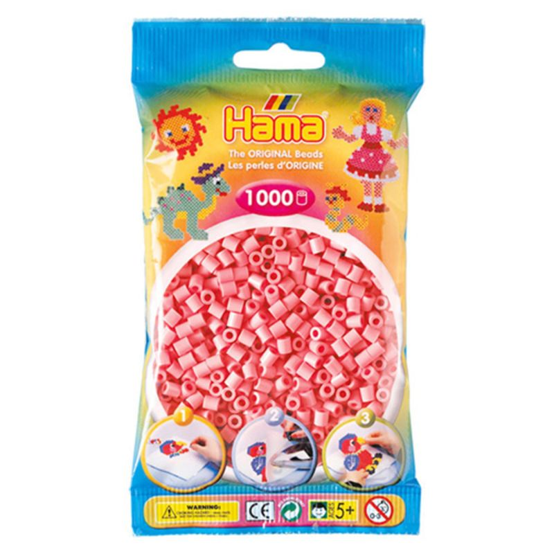 Hama perler midi 1000 stk - pink-06
