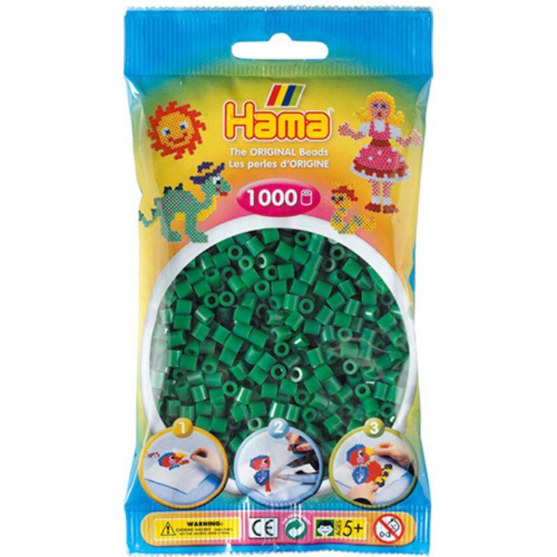 Hama perler midi 1000 stk - grøn-10