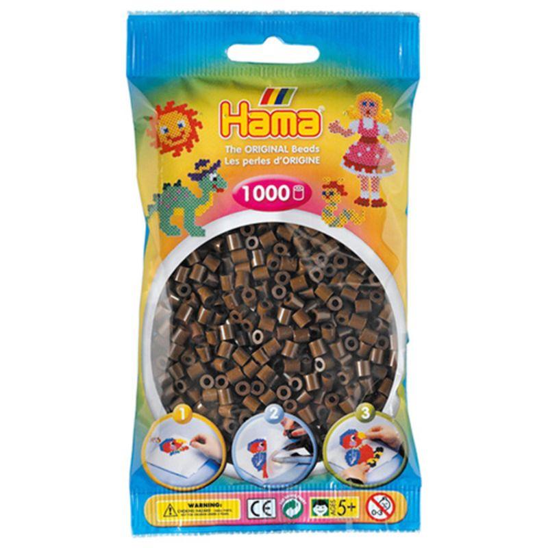 Hama perler midi 1000 stk - brun-12