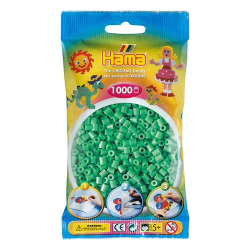 Hama perler midi 1000 stk - lysegrøn-11