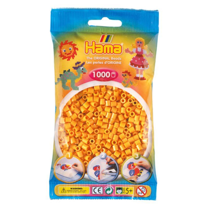 Hama perler midi 1000 stk - bamsegul-60