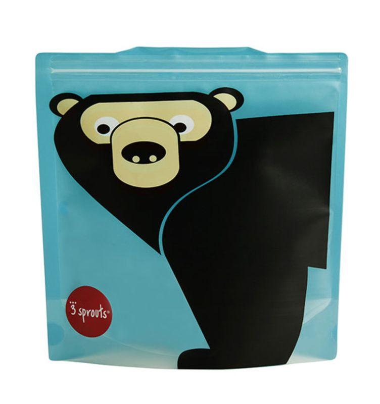 Genanvendelig sandwichpose 2 stk - Bjørn