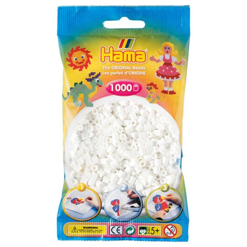 Hama perler midi 1000 stk - hvid-01