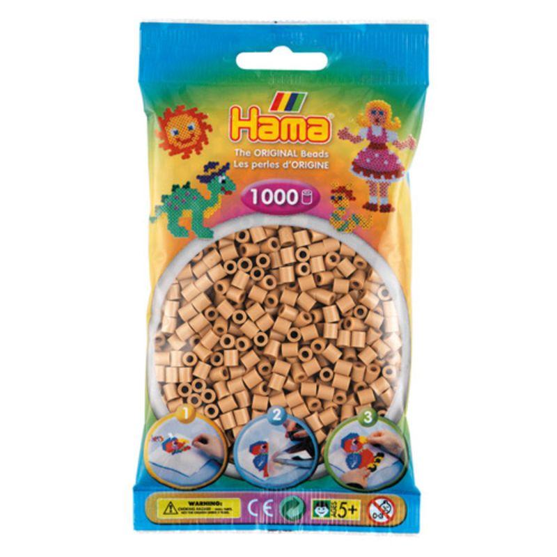 Hama perler midi 1000 stk - lys nougat-75