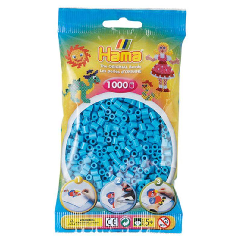 Hama perler midi 1000 stk - azurblå-49