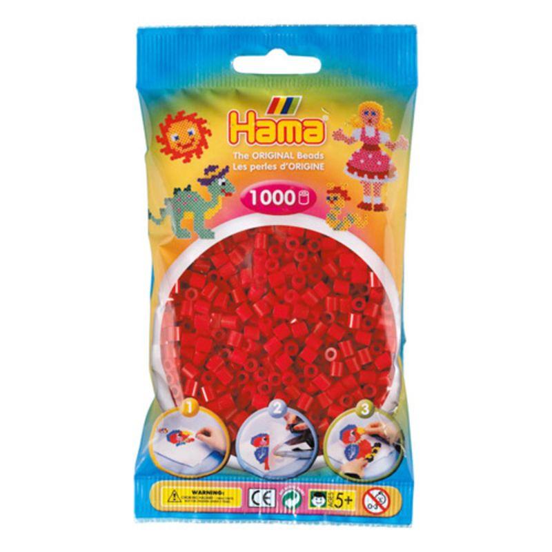 Hama perler midi 1000 stk - julerød-22
