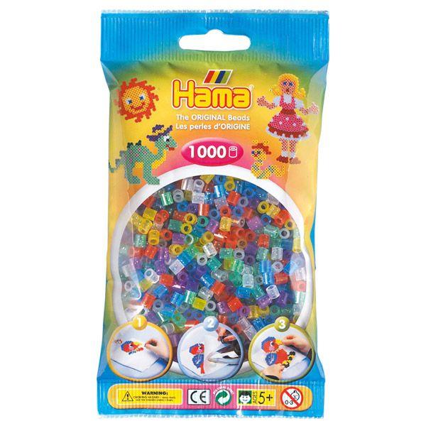 Hama perler midi 1000 stk - glitter mix-54