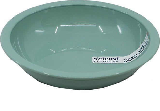 Dyb tallerken fra Sistema - Mint