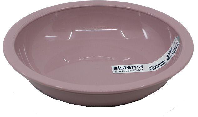 Dyb tallerken fra Sistema - Rosa