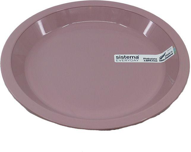 Plastiktallerken fra Sistema - Rosa