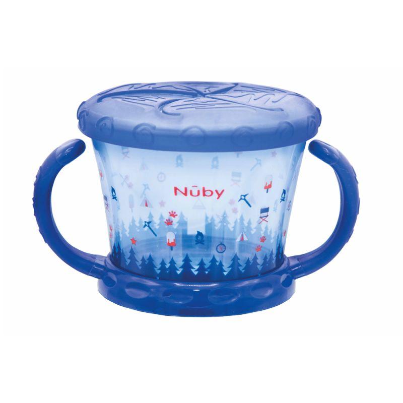 Nuby snackskål med håndtag - Blå